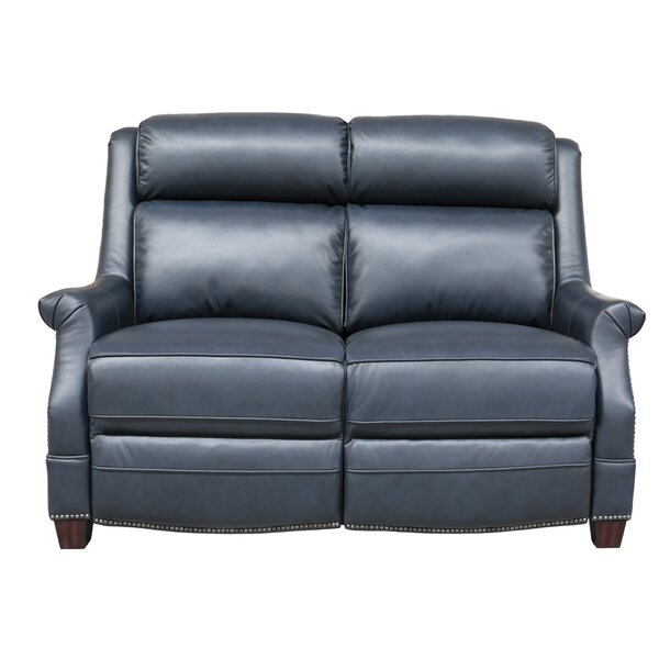 Cheadle Leather Reclining Loveseat by Orren Ellis