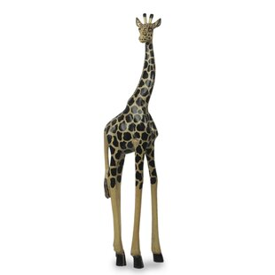 Tall Wooden Giraffe Statues Wayfair