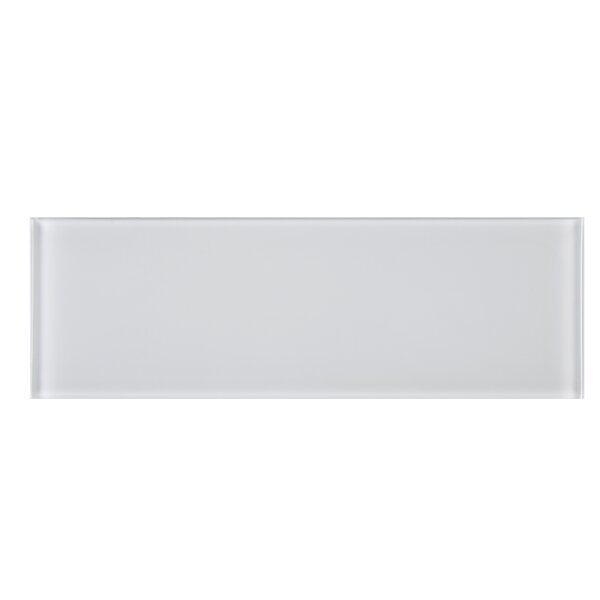 4 x 12 Glass Tile in White by Multile
