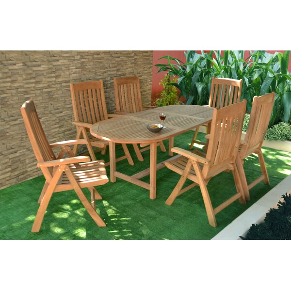 Rajimol 7 Piece Teak Dining Set by Bayou Breeze