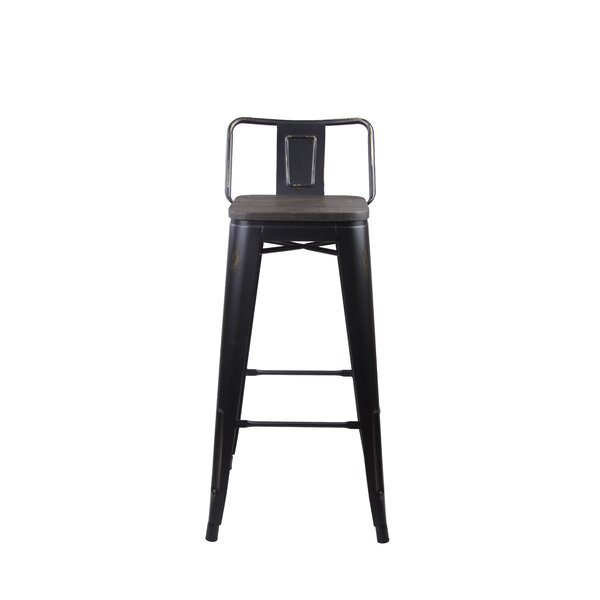 Alric 30 Bar Stool (Set of 4) by 17 Stories