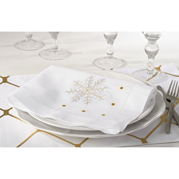 Christmas Hemstitched Holiday Napkin (Set of 4) by
