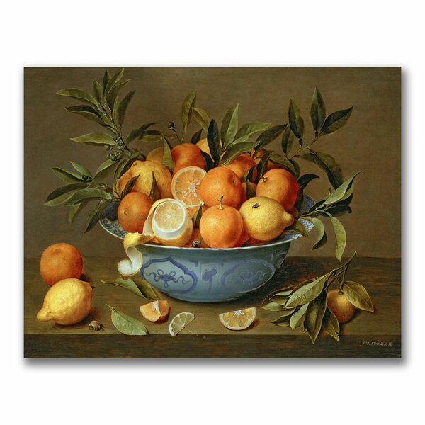 Still Life with Oranges by Jacob van Hulsdonck Photographic Print on Canvas by Trademark Fine Art