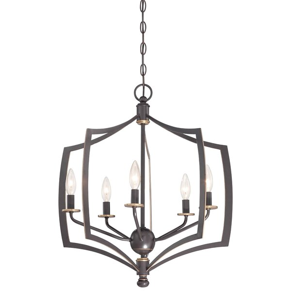 Stotts 5-Light Candle Style Geometric Chandelier By Alcott Hill