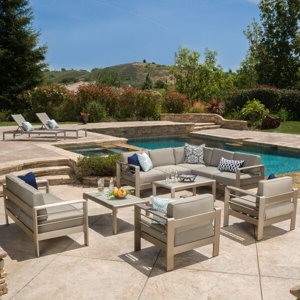 Durbin 10 Piece Sectional Set with Cushions by Wade Logan