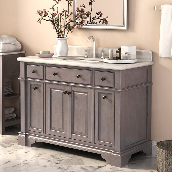 Lefebvre 48 Single Vanity Set with Backsplash by Lark Manor