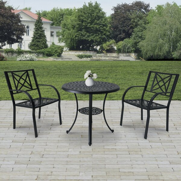 Kelty 3 Piece Bistro Set (Set of 3) by Charlton Home