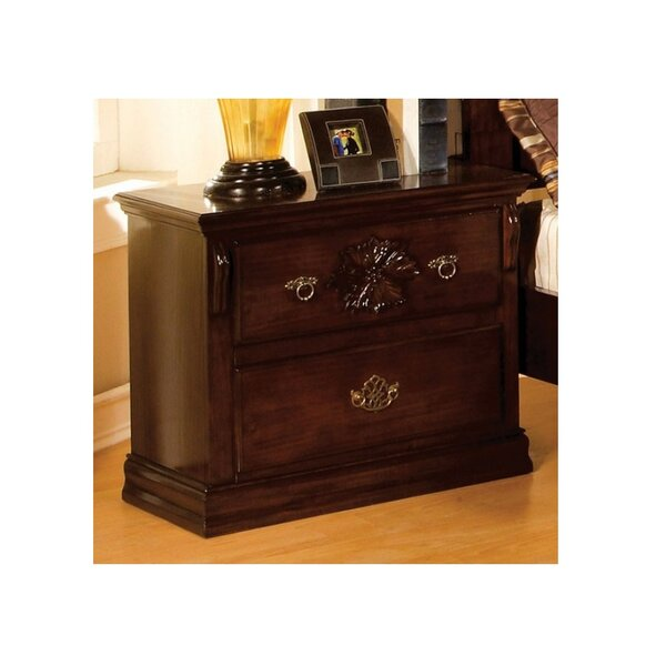 Ricciardi 2 Drawer Nightstand by Astoria Grand