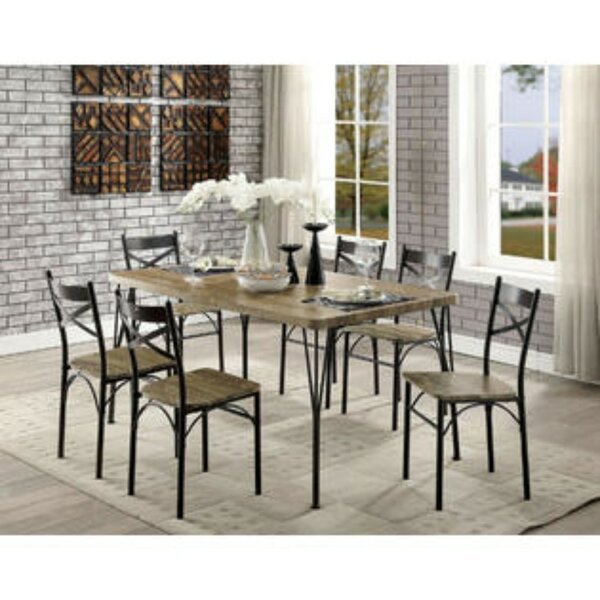 Marquez Industrial 7 Piece Dining Set by Williston Forge Williston Forge