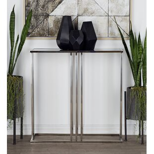 2 Piece Stainless Steel and Glass Console Table Set by Cole & Grey