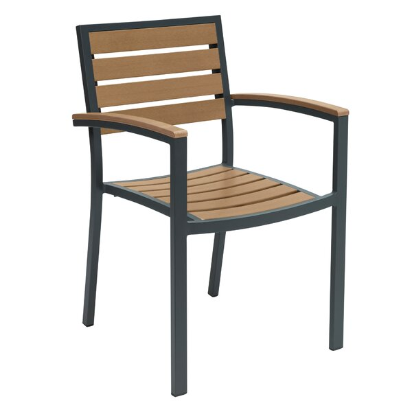 Atalaya Stacking Patio Dining Chair by Bayou Breeze