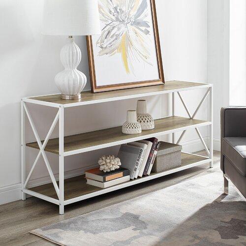 Augustus Media Etagere Bookcase LoftDesigns Farbe: Eiche/ Weiss | Küche und Esszimmer > Aufbewahrung > Etageren | LoftDesigns