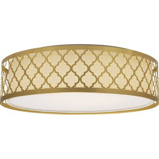 Coupon Aude 1-Light Flush Mount By Willa Arlo Interiors