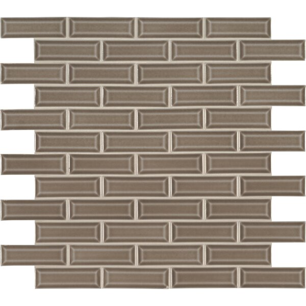 Artisan Taupe 2 x 6 Beveled Glass Mosaic Tile in Gray by MSI