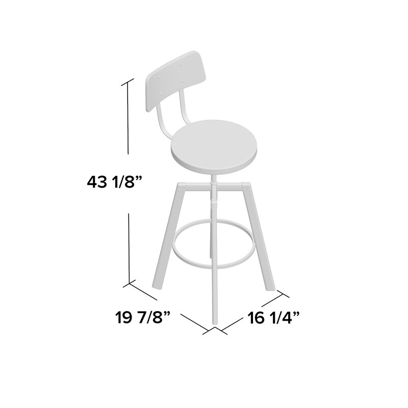 17 stories karly adjustable height bar stool reviews wayfair