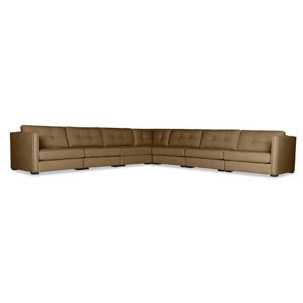 Timpson Buttoned L-Shape Modular Sectional by Latitude Run