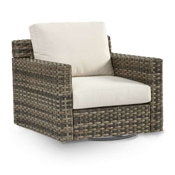 Varney Patio Glider Chair with Cushion by Rosecliff Heights