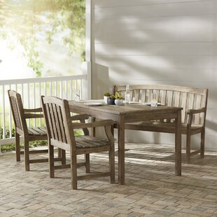Densmore 4 Piece Sunbrella Dining Set By Darby Home Co