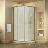 Prime 36 x 74.75 Round Sliding Shower Enclosure with Base Included byDreamLine