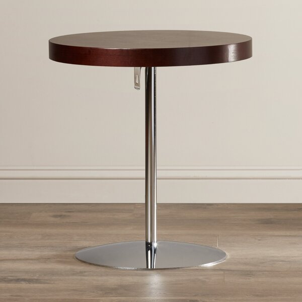 Acosta Wood Adjustable End Table By Wade Logan Design