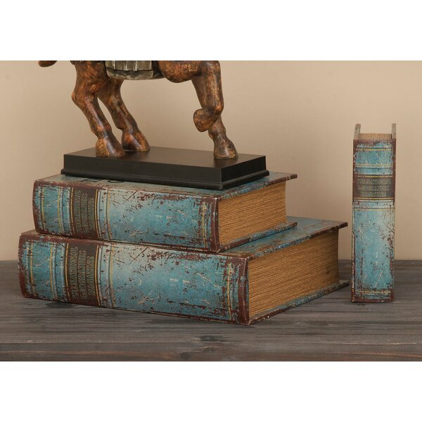 Sandown 3 Piece Wood Book Box Set by Beachcrest Home