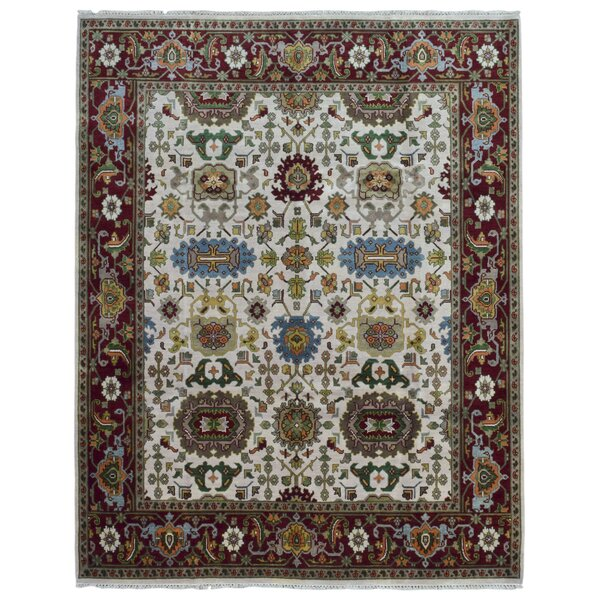 One-of-a-Kind Tanesha Oriental Hand Woven Beige Area Rug by Darby Home Co