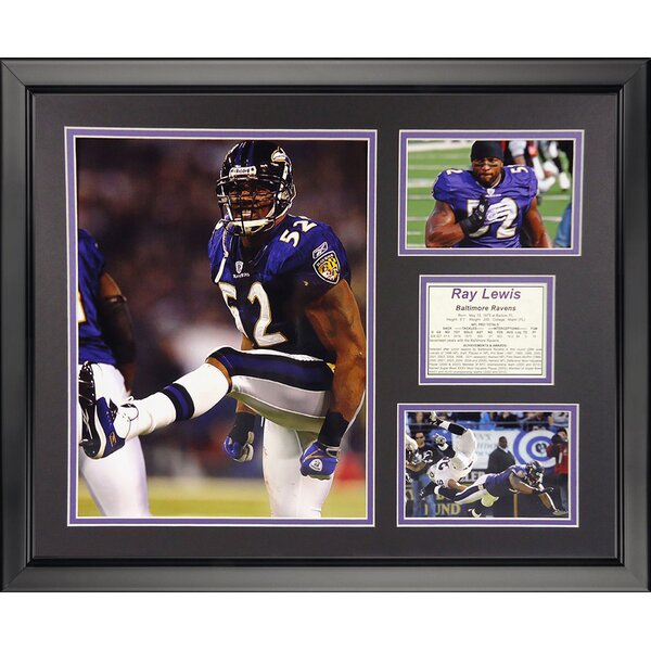 NFL Baltimore Ravens - Ray Lewis Home Framed Memorabili by Legends Never Die