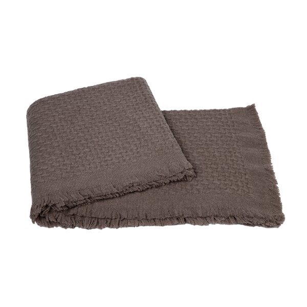 Modern Basketweave Throw by Cashmere Collection