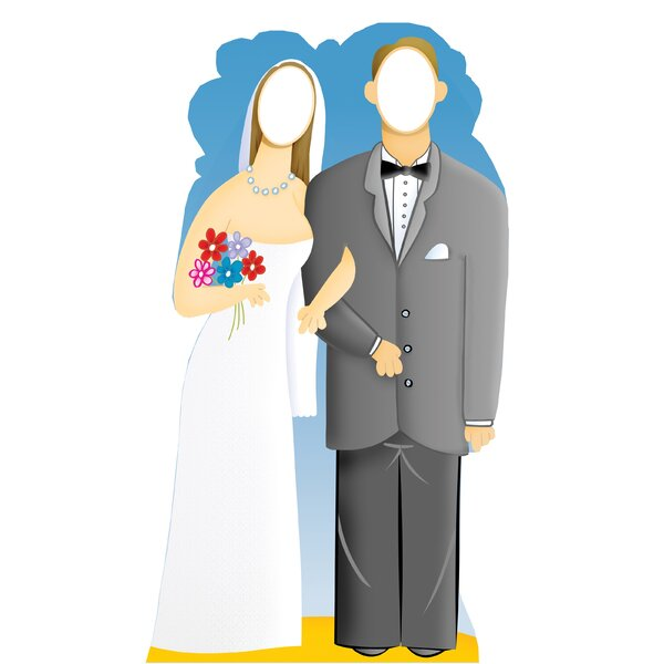 Life-Size Stand-Ins Wedding Couple Cardboard Stand-Up by Advanced Graphics