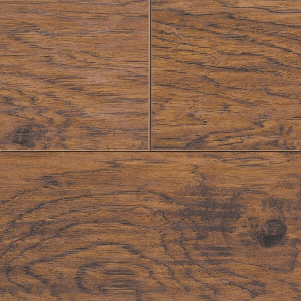 Revolutions 5'' x 51'' x 8mm Louisville Hickory Laminate Flooring in Nutmeg by Mannington