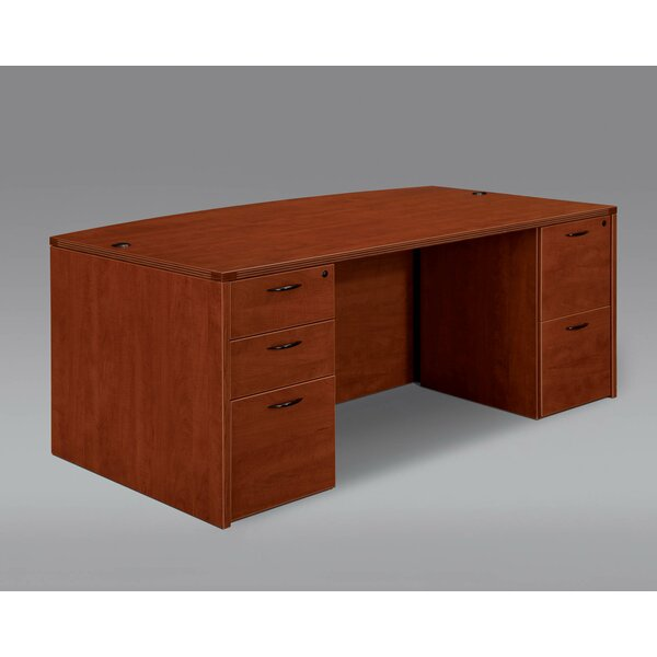 Fairplex Bow Front Executive Desk by Flexsteel Contract