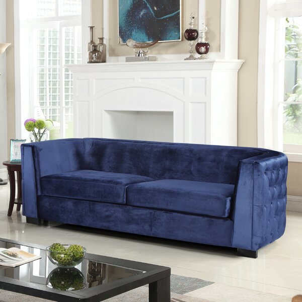 For The Latest In Orben Button-Tufted Curved Shelter Arm Chesterfield Sofa by Rosdorf Park by Rosdorf Park