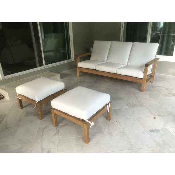 Grenier 3 Piece Sofa Set with Cushions by Bungalow Rose