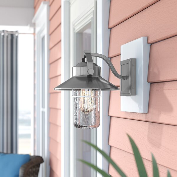 Tolliver 1-Light Outdoor Barn Light by Beachcrest Home