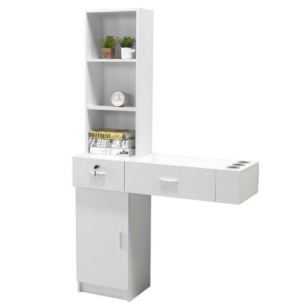 Dockrey Wall Mount Salon Spa Hair Styling Station Shelf Desk Storage Cabinet