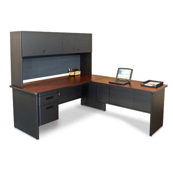 Crivello Reversible L-Shape Executive Desk with Hutch