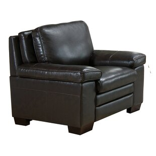 Devry Leather Club Chair by World Menagerie