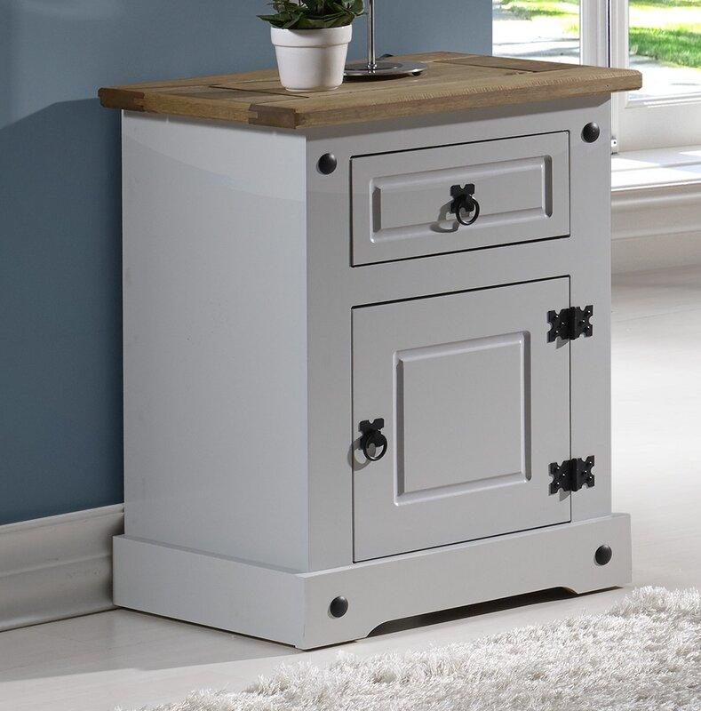 seconique nachttisch corona mit schublade bewertungen. Black Bedroom Furniture Sets. Home Design Ideas