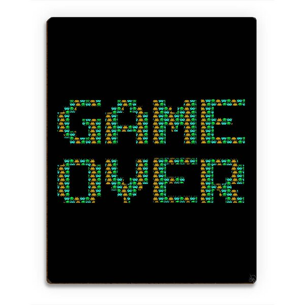 Wood Slats Game Over Beta Graphic Art on Plaque by Click Wall Art