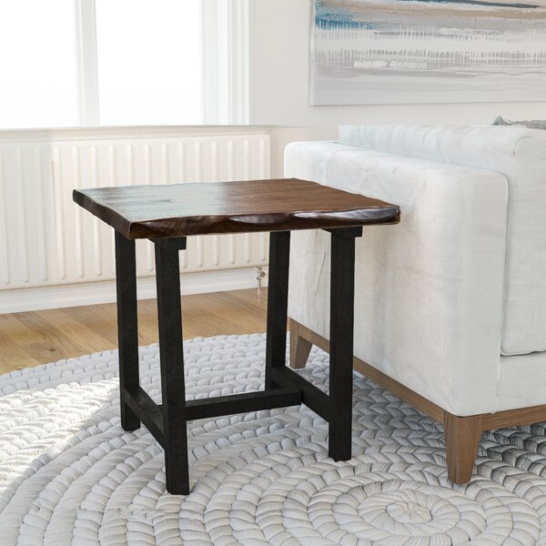 Salazar Trestle End Table by Union Rustic