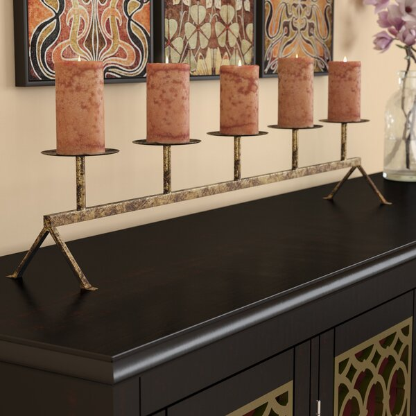 5 Pillar Metal Candelabra by Bloomsbury Market