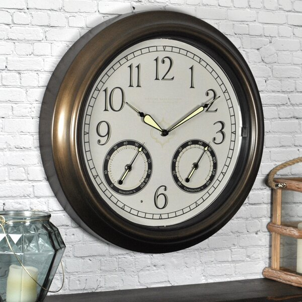 18 Led Trellis Wall Clock By Firstime.