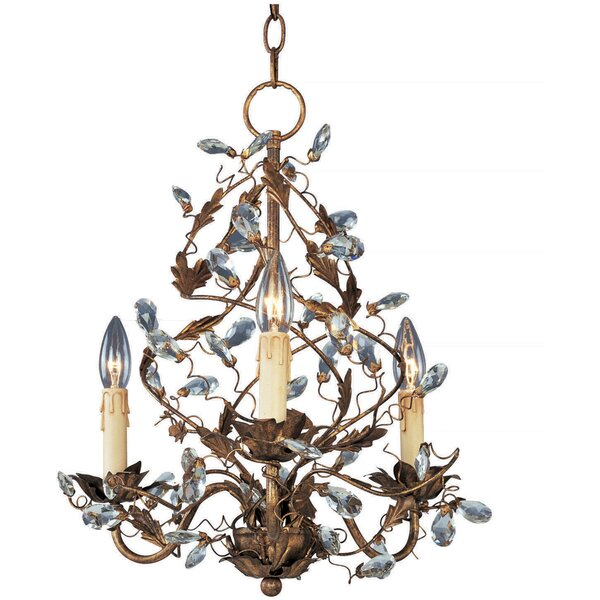 Kaiya 3-Light Candle Style Classic / Traditional Chandelier by Bungalow Rose Bungalow Rose
