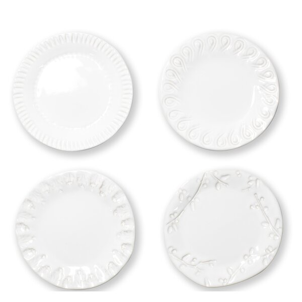 Assorted 4 Piece Bread and Butter Plate Set by VIE