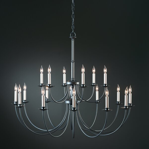 18-Light Candle Style Tiered Chandelier by Hubbardton Forge Hubbardton Forge