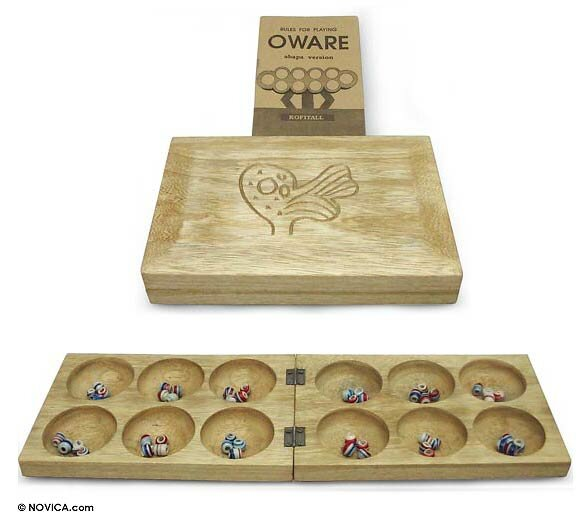 Sankofa Anoma Oware Table Game by Novica