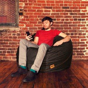 Denim 4' Bean Bag Chair by Jaxx