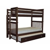 Treva Tall Twin over Twin Bunk Bed with Trundle byHarriet Bee