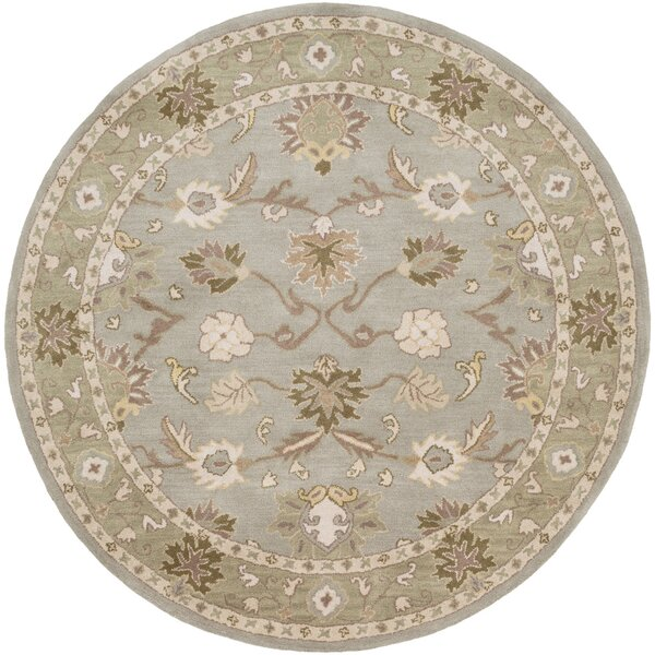 Topaz Dark Olive Green Area Rug by World Menagerie
