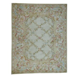Souliere Plus Savonnerie Floral Trellis Hand-Knotted Area Rug